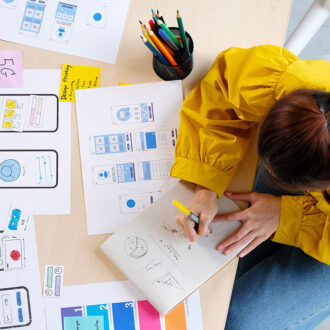Website Designer, Creative Planning Phone App Development Sketch